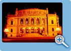 A night view of The Rudolfinum concert hall